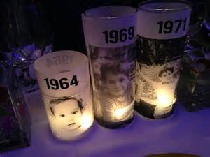 centerpieces for 50th birthday ideas 50th birthday bash custom candle centerpieces 1 classic