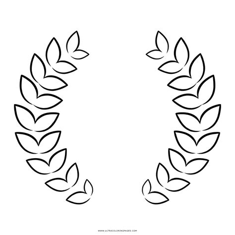 printable laurel leaves laurel wreath coloring page coloring pages