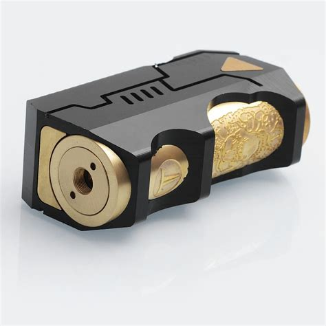 black gray and brass master battle master style black mechanical mod w extended