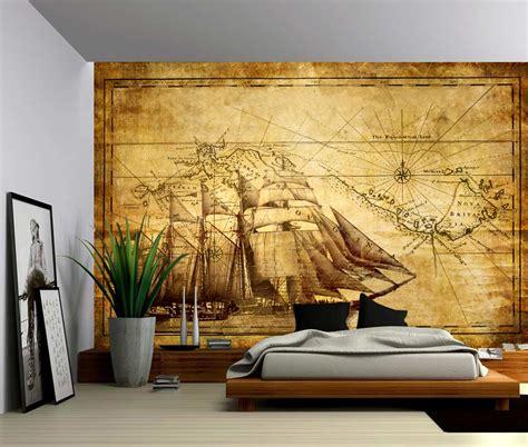 Wall Murals Cheap Peel Stick Vintage Sailing Map Self Adhesive Vinyl Wallpaper Peel