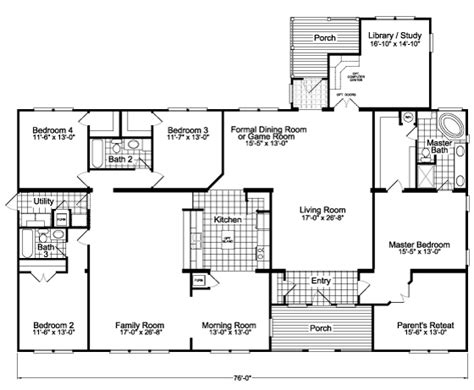 standard house measurements the gotham flex vr57764b manufactured home floor plan or