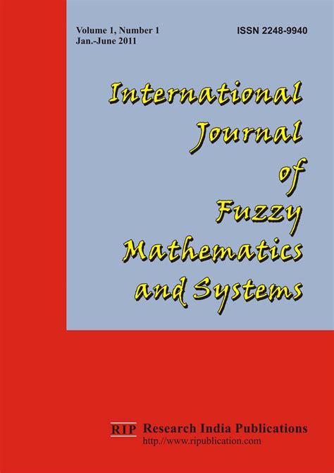 Fuzzy Mathematics ijfms international journal of fuzzy mathematics and