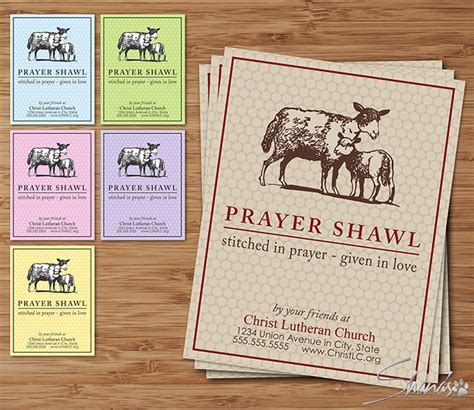 prayer shawl card template flat cards ewe collection
