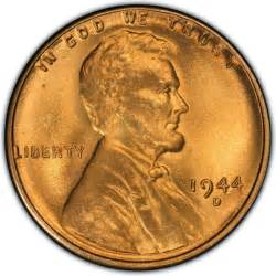1944 lincoln wheat pennies values and prices past sales coinvalues com