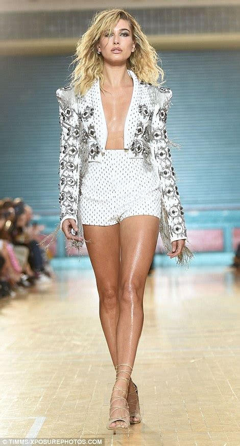 catwalk beauty hailey baldwin leads the charge at julien macdonald s lfw