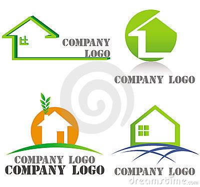 house beautiful logo house architecture real estate green logos