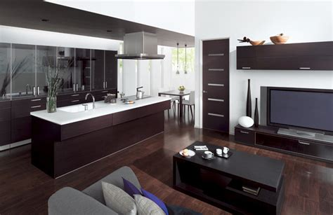 combined kitchen and living room combine kitchen and living room with cuisia by toto digsdigs