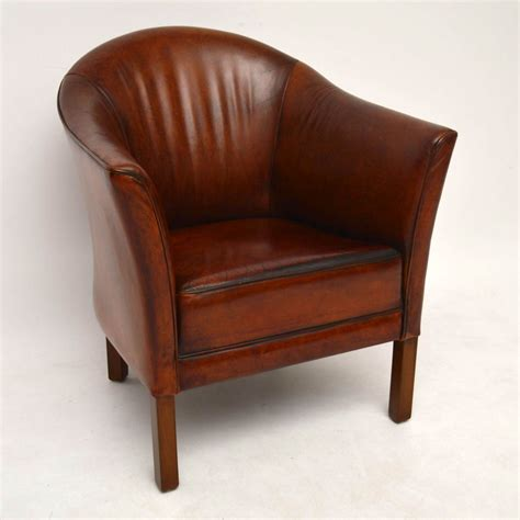 tub armchairs pair of swedish antique leather tub armchairs marylebone