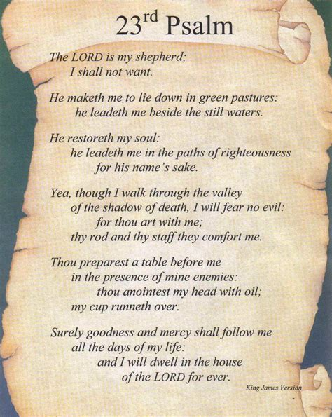 printable version of psalm 23 printable psalm 23 psalm 23 is a part of psalms 23 kjv