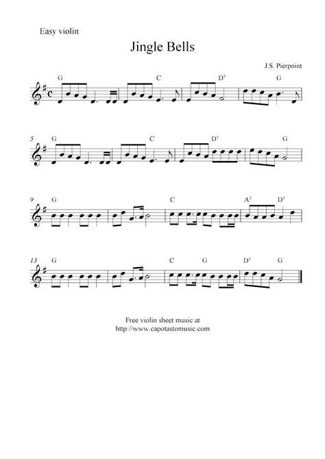 printable christmas violin sheet music free jingle bells free christmas violin sheet music