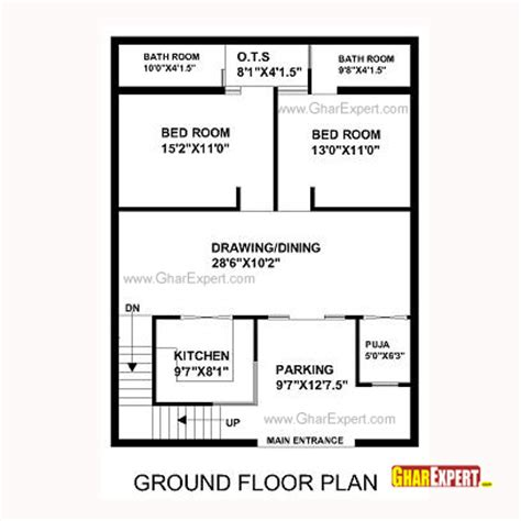 house map design 30 x 40 house plan for 30 feet by 40 feet plot plot size 133