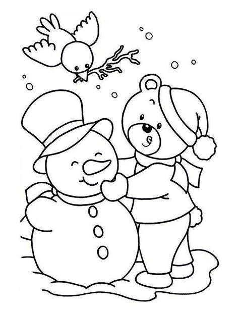 winter bear coloring page balwan kolorowanka e kolorowanki kolorowanki do druku