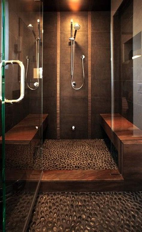 Dark Tile Bathroom Ideas by 35 Dark Brown Bathroom Floor Tile Ideas And Pictures