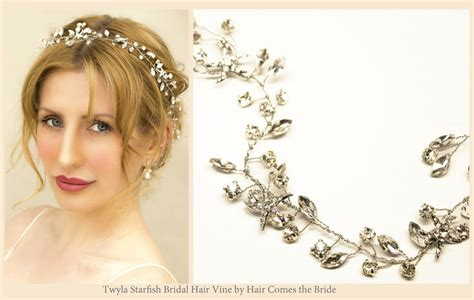 starfish hair accessories by hair comes the bride starfish bridal hair accessories for your beach wedding