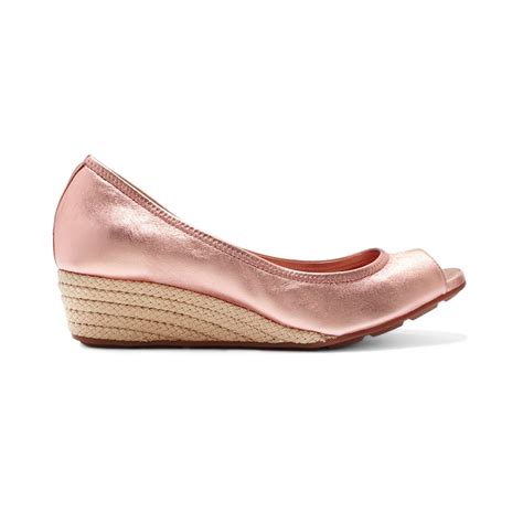 Wedges Tali Pink lyst cole haan womens air tali open toe wedges in pink