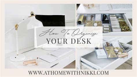 How To Organize Your Desk At Home For School Home Organizing Desk Organization Ideas How To Organize Your Desk