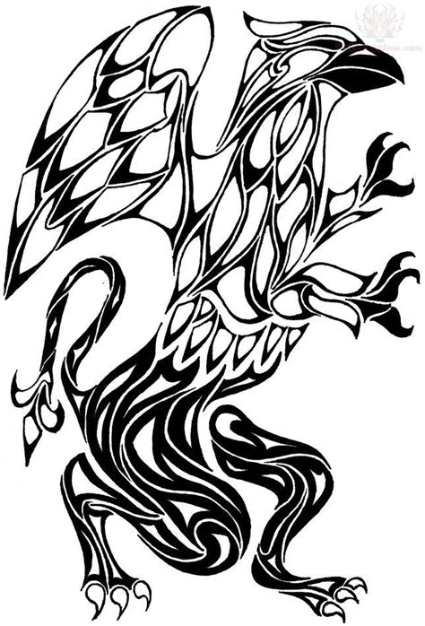 griffin tribal tattoo griffin tribal design гриффины тату