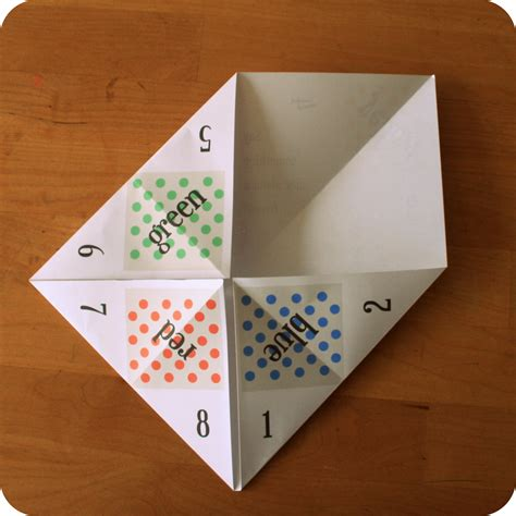 Folding Paper Fortune Teller - free paper fortune teller printable templates welcome to