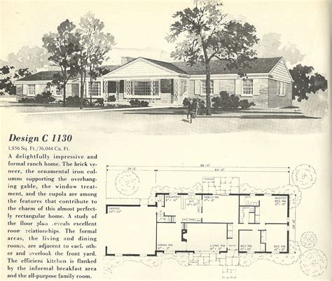 1960s ranch house plans mid century ranch house plans vintage house plans 1130 antique alter ego