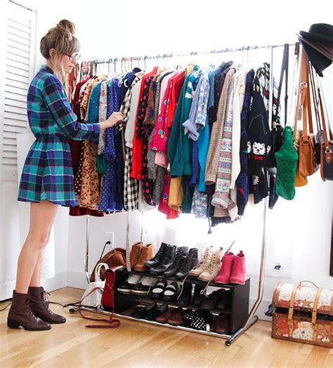 garment rack in bedroom 14 inspiring ideas for styling small spaces via brit co