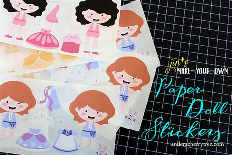 Make Your Own Paper Doll - a cherry tree jin s make your own paper doll stickers