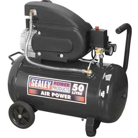 sealey low pressure air tool compressor 50ltr direct drive 2hp sac5020e