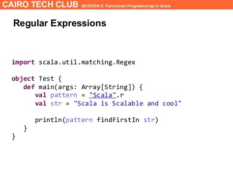 regex pattern matching scala functional programming in scala