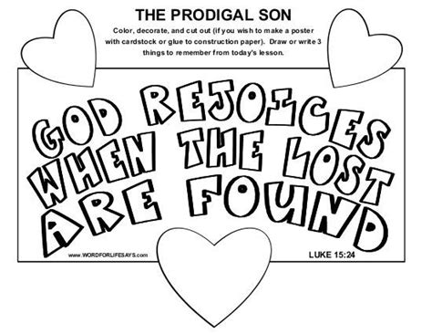 The Prodigal Club 16 best parable of lost images on prodigal activities and sunday school