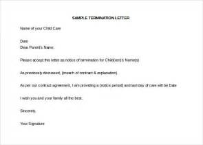 Transfer Letter Due To Child Care Daycare Termination Letter Templates 10 Free Sle