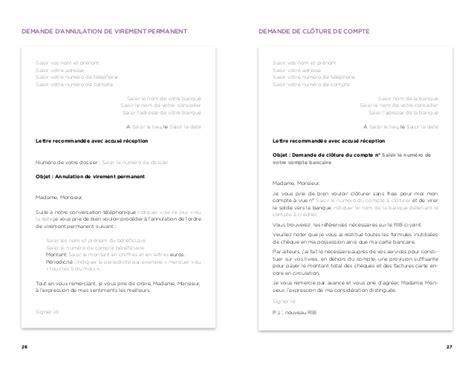 Modèle De Lettre Virement Permanent Changer De Banque Le Guide De La Mobilit 233
