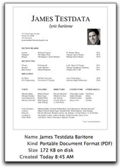 Singer Resume Template by Performance On Actor Headshots Acting And Singers