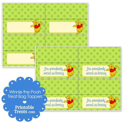 Goodie Bag Resleting Banner Winnie The Pooh 1 17 best images about winnie the pooh printables on treat bags bunting banner
