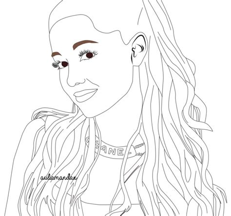 ariana grande outline by atsushika28 on deviantart