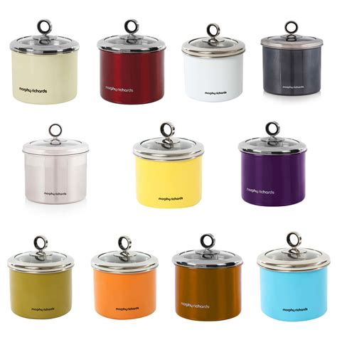 stainless kitchen canisters morphy richards small 1 4 litre stainless steel kitchen