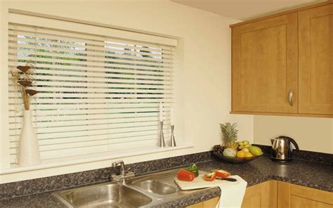 Kitchen Blinds Faux Wood Blind 2017 Grasscloth Wallpaper