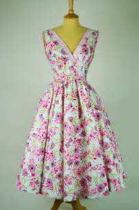 1950s vintage dress by sportlane deb pink flowers with