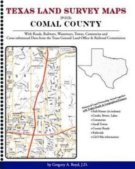 survey maps texas texas land survey maps for comal county with roads railways waterways 142035101x ebay