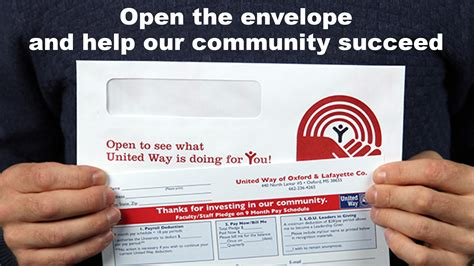 Ole Miss Mba Starting Salary by Open The Envelope Today And Live United Way Ole Miss News