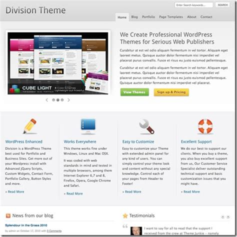 theme junkie division wordpress division官方最新汉化版 theme junkie division wordpress