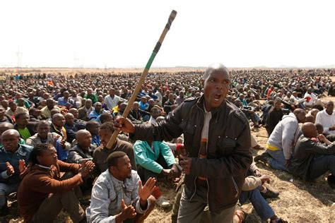 rich of africa others rage by miners points to shift in south africa the new york times
