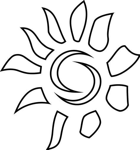 Sun Black Outline by Outline Sun Clipart Best