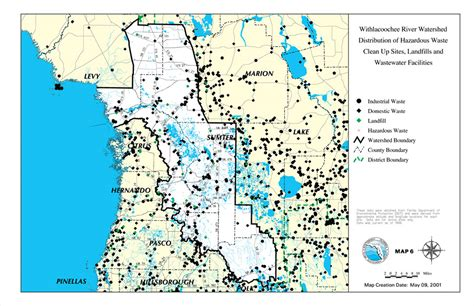 map of hazardous waste sites withlacoochee river watershed distribution of hazardous