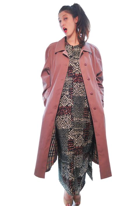 dusty pink vintage coat for 1970s shpirulina