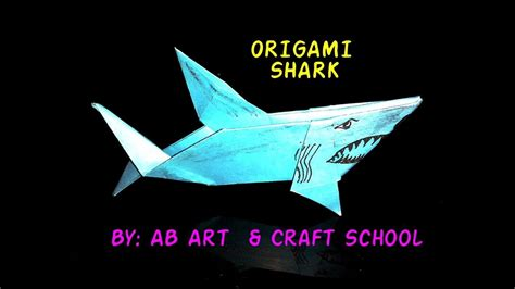 How To Make An Origami Shark - craft origami shark how to make fold a paper origami