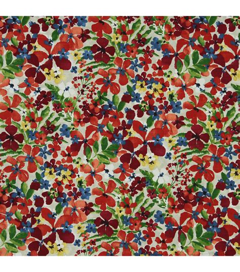 floral home decor fabric home decor print fabric robert allen floral sonata calypso