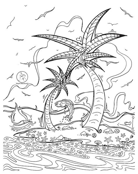 tropical island coloring pages murderthestout