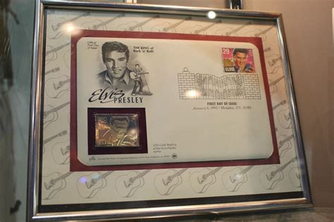 Termurah California Blue Limited framed elvis 35th anniversary blue suede shoes limited edition etched gold plated record
