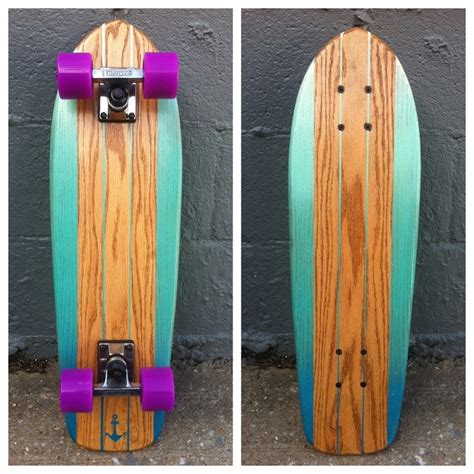 Handmade Longboard Skateboards - this is a one of a handmade solid oak surf