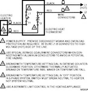 wiring typical hookup for electric heat thermostat for spst switching models