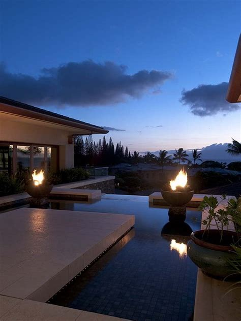 Fire Pit Fountain - 21 amazing outdoor fire pit design ideas